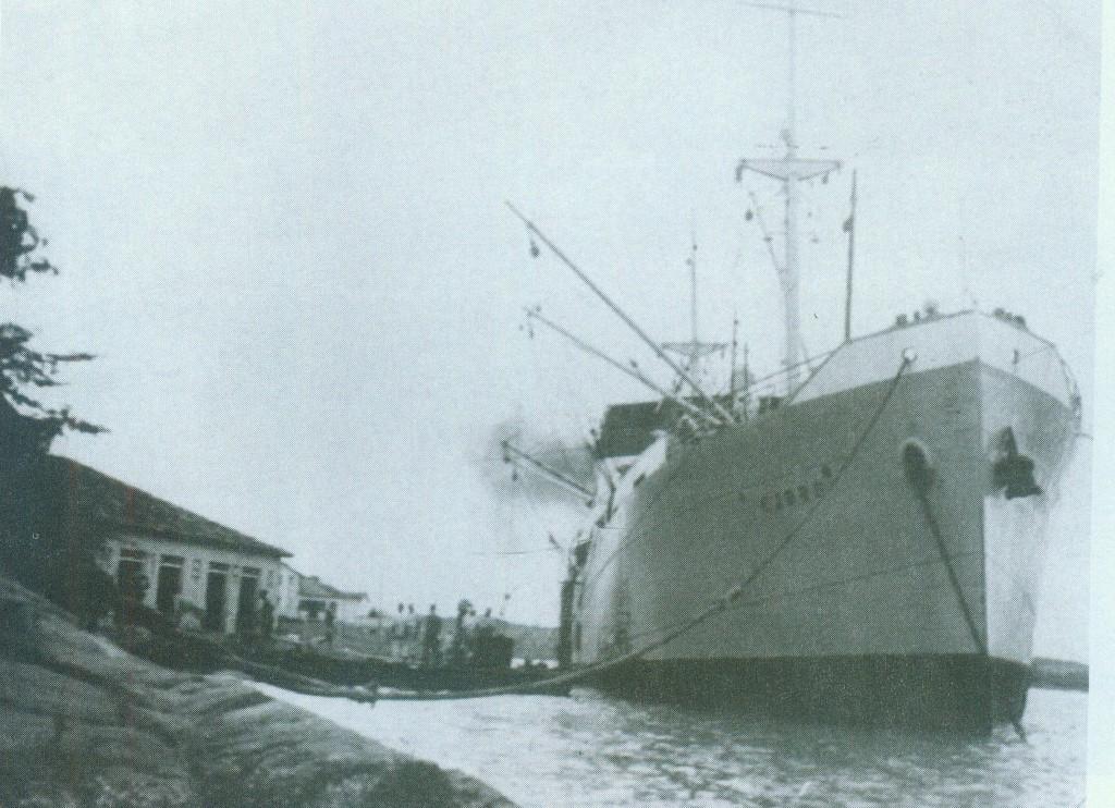 O navio Fjord foi um dos mais ativos no transporte de monazita em Guarapari
