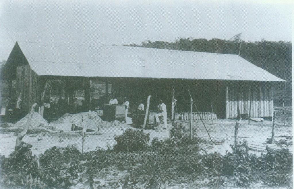 Barracão da Inaremo, onde o tório era separado da areia