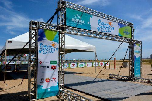 Arena de verão oferece esportes e lazer em Marataízes
